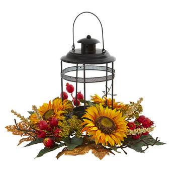 Sunflower Berry Artificial Arrangement Candelabrum - SKU #4279