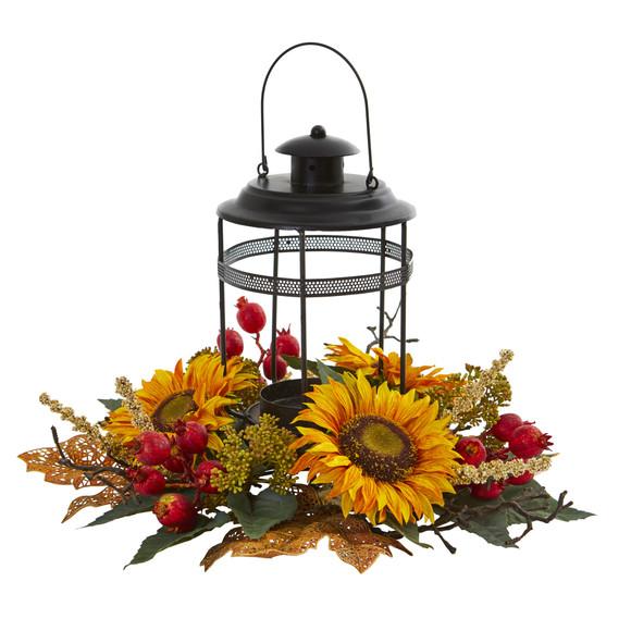 Sunflower Berry Artificial Arrangement Candelabrum - SKU #4279