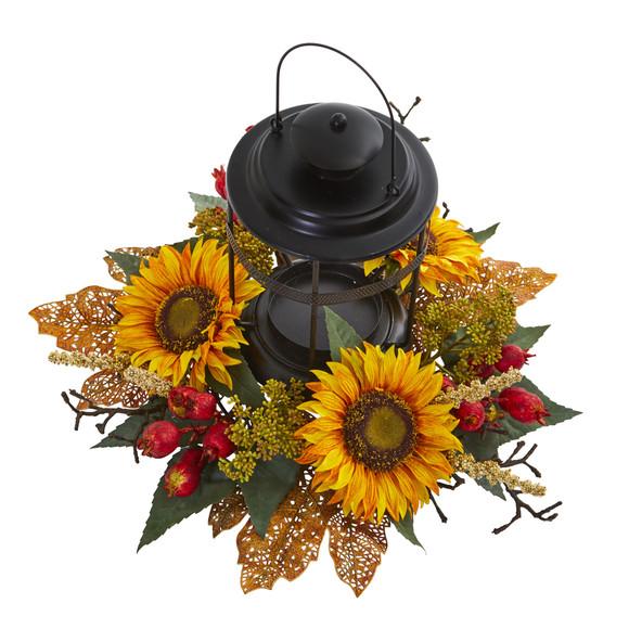 Sunflower Berry Artificial Arrangement Candelabrum - SKU #4279 - 1