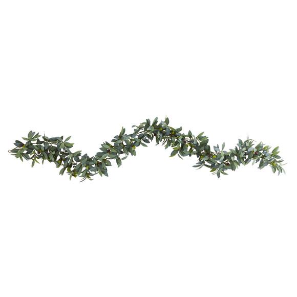 6.5 Olive Artificial Garland - SKU #4284