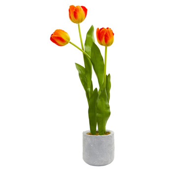 Tulip Artificial Arrangement in Ceramic Vase - SKU #4293