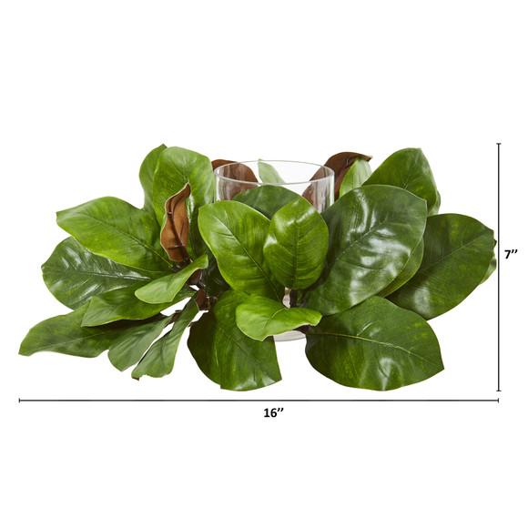 16 Magnolia Leaf Artificial Arrangement Candelabrum - SKU #4301 - 1
