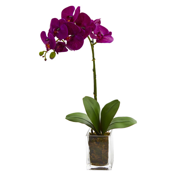 24 Orchid Phalaenopsis Artificial Arrangement in Vase - SKU #4309 - 2