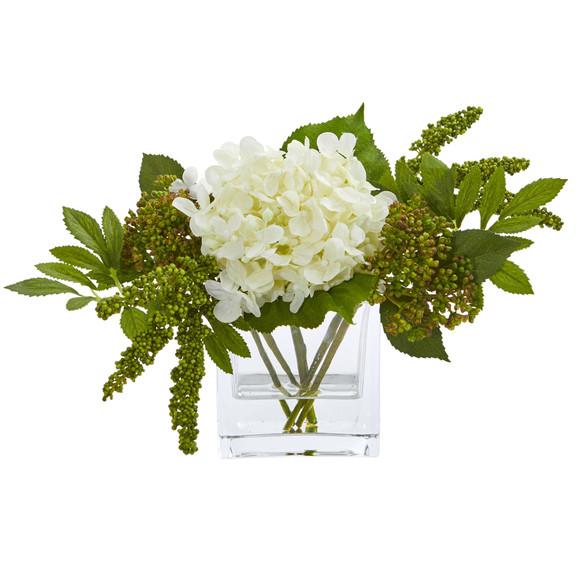 Hydrangea Artificial Arrangement in Vase Set of 2 - SKU #4314-S2 - 2