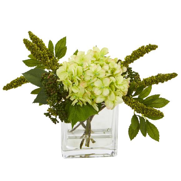 Hydrangea Artificial Arrangement in Vase Set of 2 - SKU #4314-S2 - 5