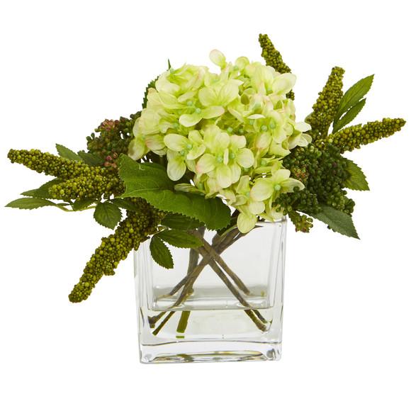Hydrangea Artificial Arrangement in Vase Set of 2 - SKU #4314-S2 - 6