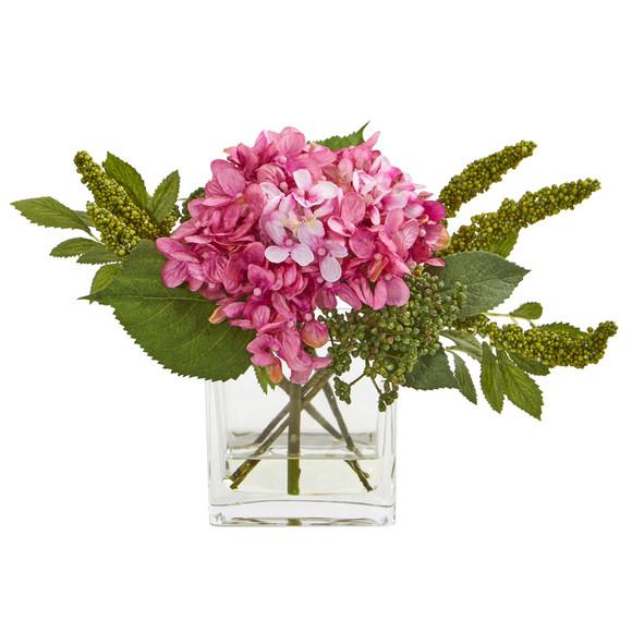 Hydrangea Artificial Arrangement in Vase Set of 2 - SKU #4314-S2 - 4