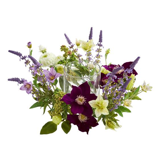 Mixed Floral Artificial Arrangement Candelabrum - SKU #4329