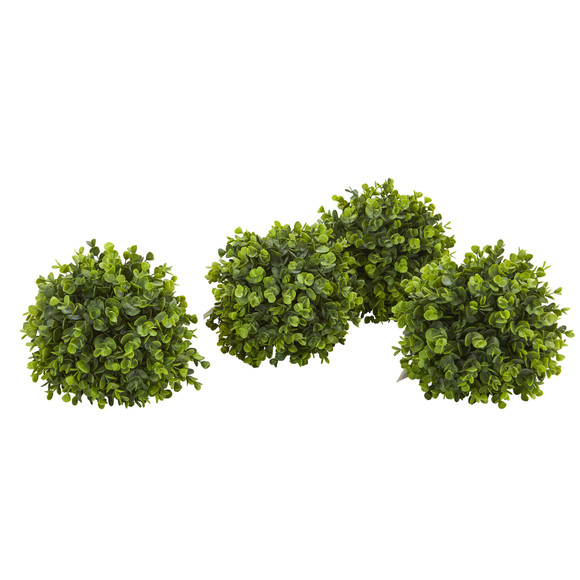 11 Eucalyptus Decorative Artificial Ball Set of 4 - SKU #4343-S4