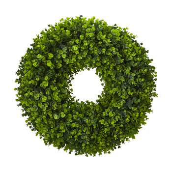 25 Eucalyptus Artificial Wreath - SKU #4344
