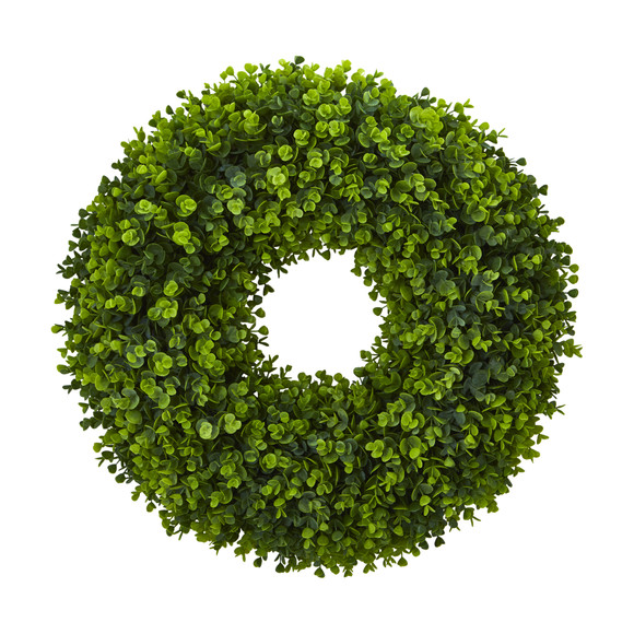 25 Eucalyptus Artificial Wreath - SKU #4344