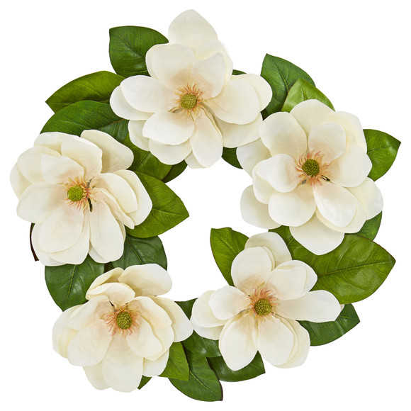 23 Magnolia Artificial Wreath - SKU #4345