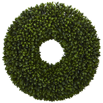 24 Boxwood Artificial Wreath - SKU #4350