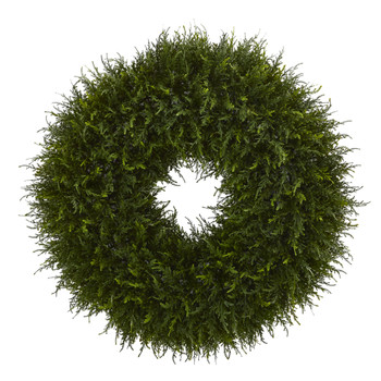 32 Giant Cedar Artificial Wreath - SKU #4351