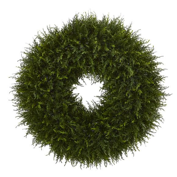 32 Giant Cedar Artificial Wreath - SKU #4351