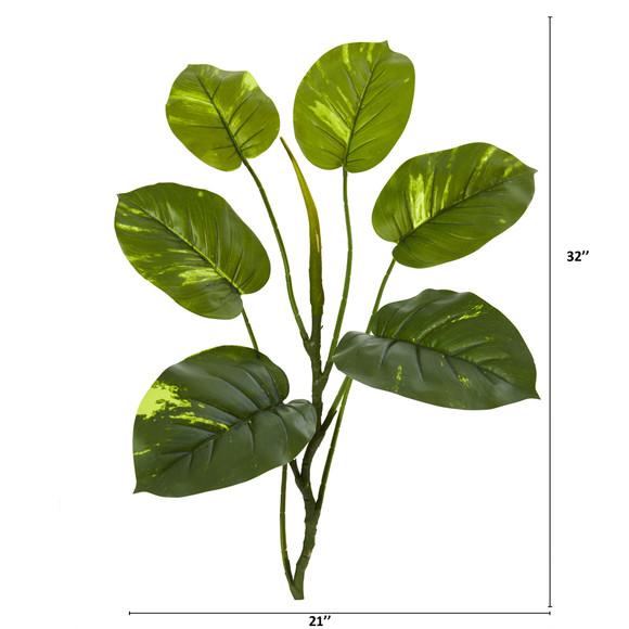 32 Large Leaf Pothos Artificial Vinning Plant Set of 6 - SKU #4356-S6 - 1