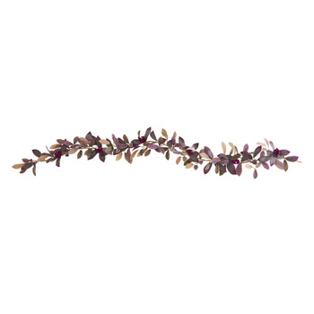 6 Fall Laurel Leaf with Berries Artificial Garland Set of 2 - SKU #4364-S2
