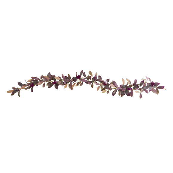 6 Fall Laurel Leaf with Berries Artificial Garland Set of 2 - SKU #4364-S2