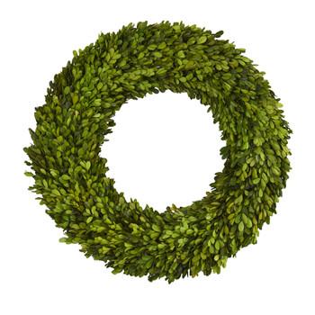 24 Preserved Boxwood Wreath - SKU #4375