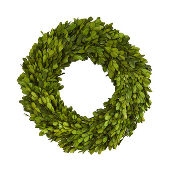 14 Preserved Boxwood Wreath - SKU #4376