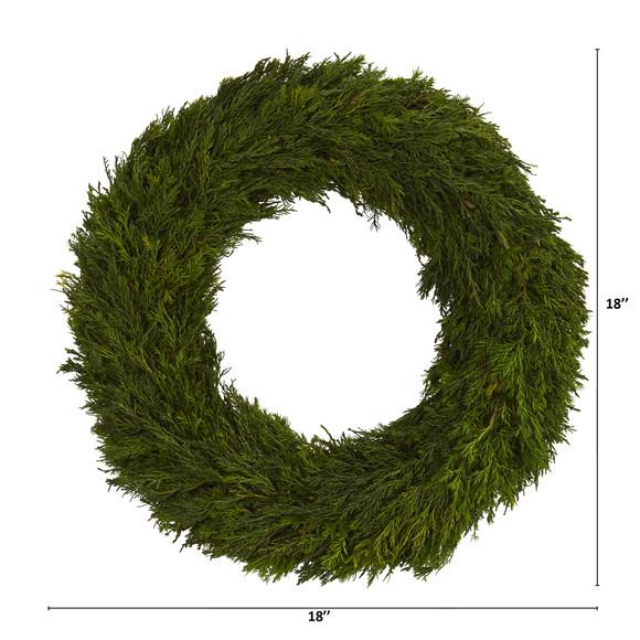 18 Cypress Preserved Wreath - SKU #4378 - 1