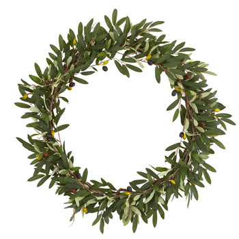23 Olive Artificial Wreath - SKU #4379
