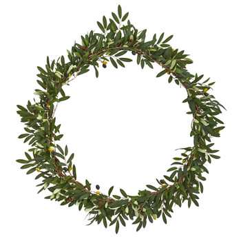28 Olive Artificial Wreath - SKU #4380