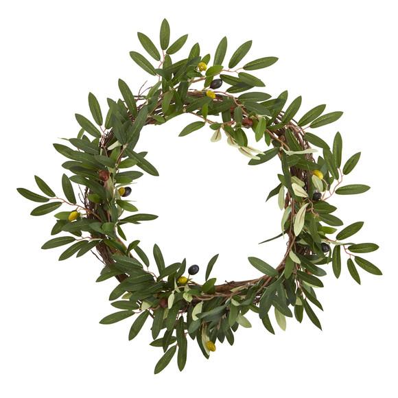 16 Olive Artificial Wreath - SKU #4381-MB