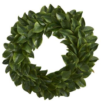 30 Magnolia Artificial Wreath - SKU #4391