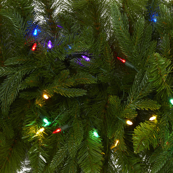 6 x 18 Christmas Pine Extra Wide Artificial Garland with 100 Multicolored LED Lights - SKU #4460 - 2