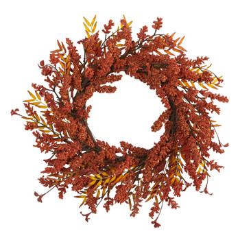 18 Harvest Berry Artificial Wreath - SKU #4473