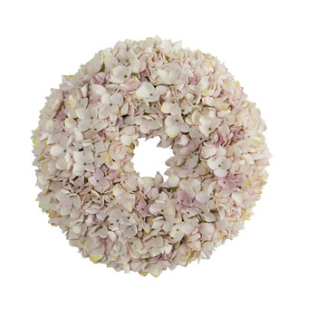 16 Hydrangea Artificial Wreath - SKU #4477