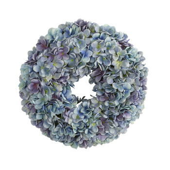 16 Hydrangea Artificial Wreath - SKU #4478