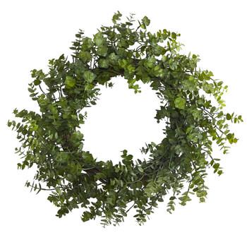 24 Eucalyptus Artificial Wreath - SKU #4492