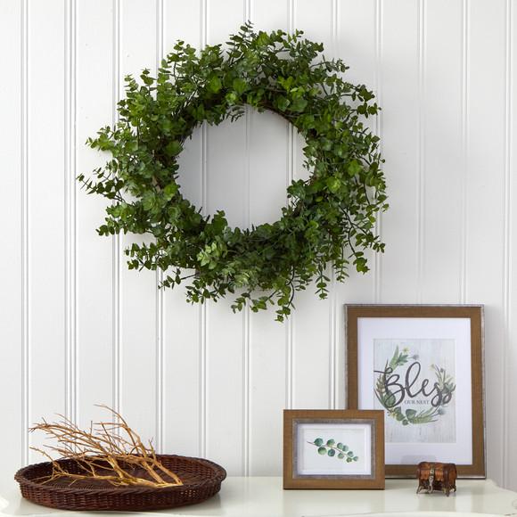 24 Eucalyptus Artificial Wreath - SKU #4492 - 2