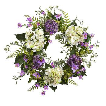 24 Hydrangea Berry Wreath - SKU #4531