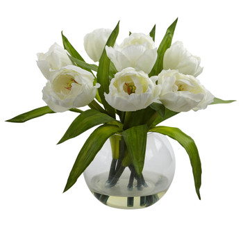 Tulips Arrangement w/Vase - SKU #4535-WH