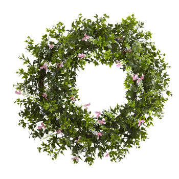 18 Mini Ivy Floral Double Ring Wreath w/Twig Base - SKU #4543