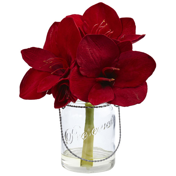 Amaryllis in Glass Vase Set of 2 - SKU #4547-S2 - 1