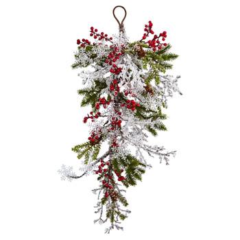 26 Berry Pine Snowflake Teardrop - SKU #4550