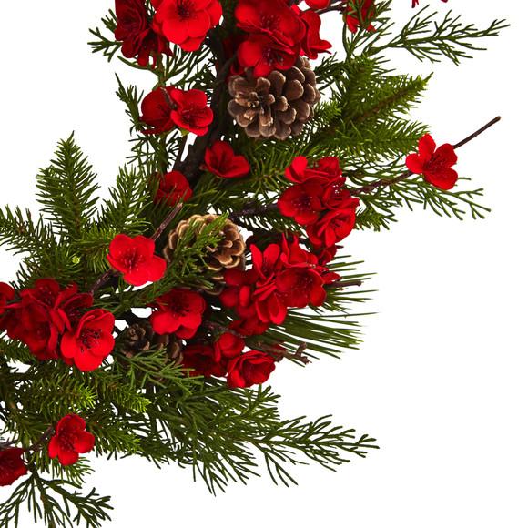 24 Plum Blossom Pine Wreath - SKU #4551 - 1