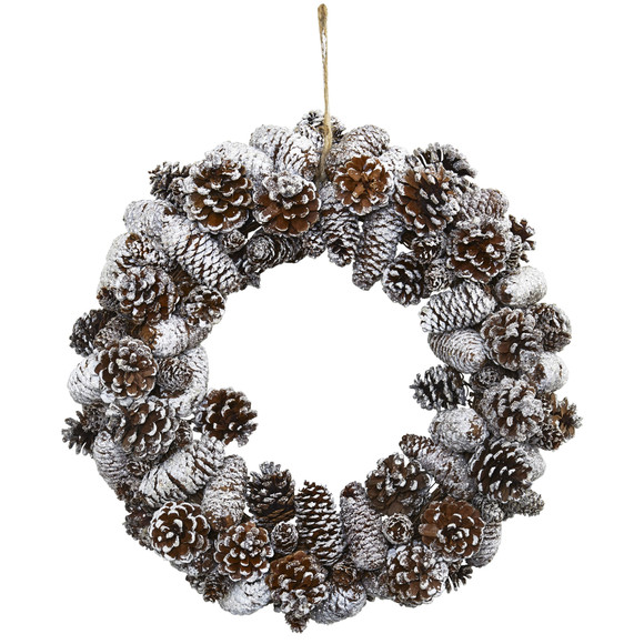 Snowy Pine Cone Wreath - SKU #4553