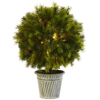 18 Pine Ball in Iron Top - SKU #4558