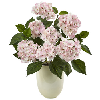 Hydrangea with White Planter - SKU #4565