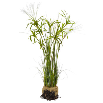 Papyrus Plant with Faux Soil - SKU #4566