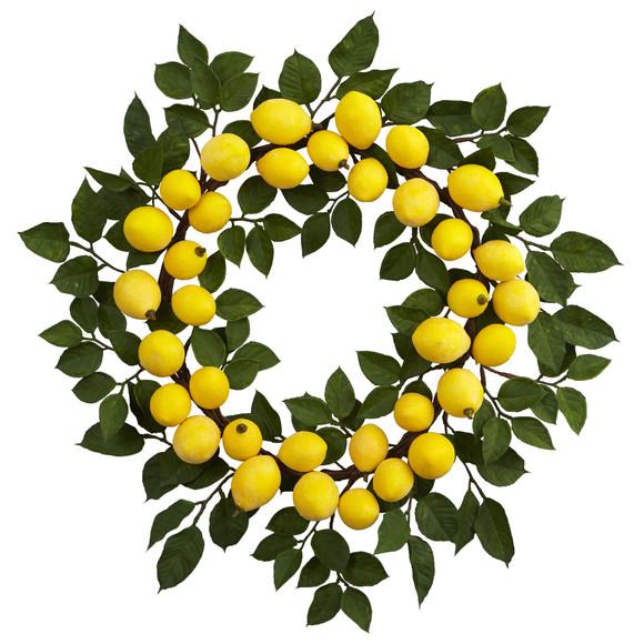 24 Lemon Wreath - SKU #4567