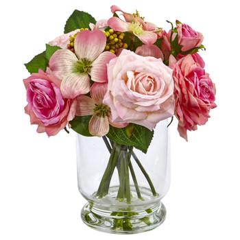 10 Rose and Berry Arrangement - SKU #4573