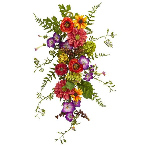 24 Garden Flower Teardrop - SKU #4578