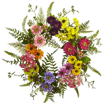 Mixed Flower Wreath - SKU #4581