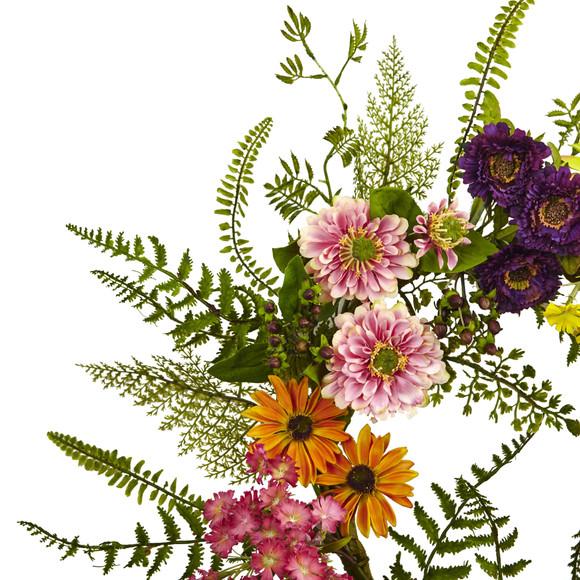 Mixed Flower Wreath - SKU #4581 - 1